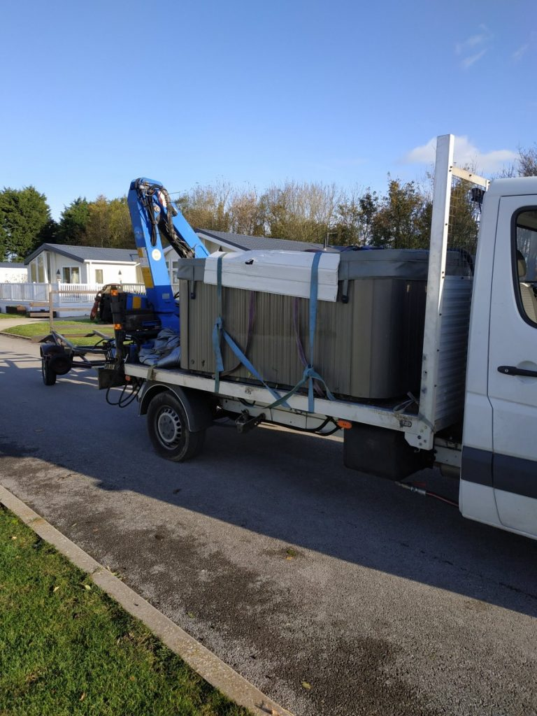 Hot Tub Move - Loaded Up Ready to Go